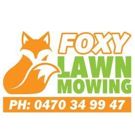 Foxy lawn mowing